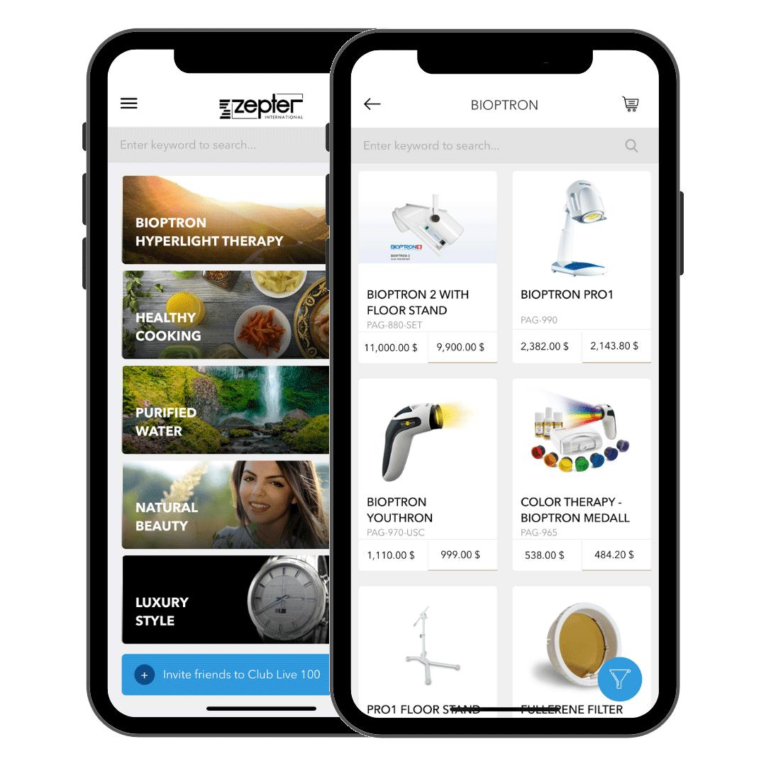 Club Live 100 Zepter Mobile App Image